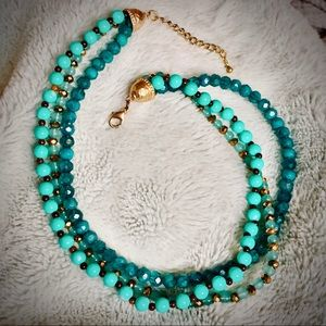 Jewelry - MULTISTRAND STATEMENT NECKLACE|TURQUOISE|AQUA|GOLD
